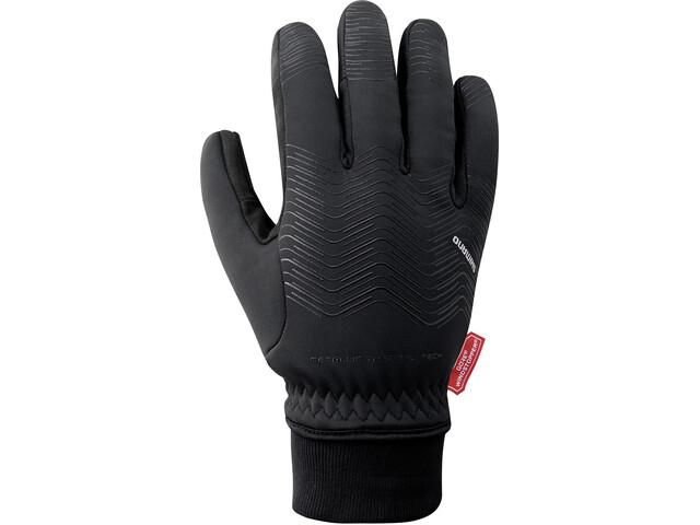 Shimano Windstopper Gants thermiques réfléchissants Homme, black
